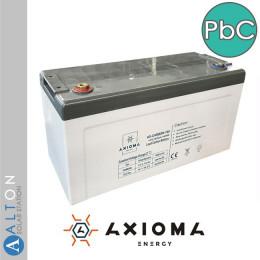 Аккумулятор свинцово-углеродный Axioma, 100 Ач, 12 В