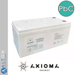 Аккумулятор свинцово-углеродный Axioma, 200 Ач, 12 В