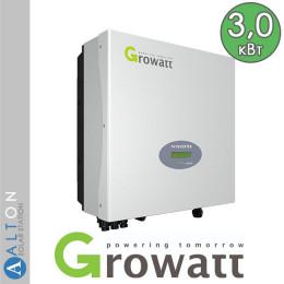 Сетевой солнечный инвертор Growatt 3 кВт