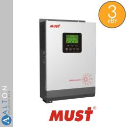 Автономный солнечный инвертор 3 кВт MUST PV18-3024 VPK