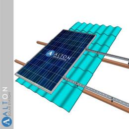 Комплект крепления солнечных батарей на крышу