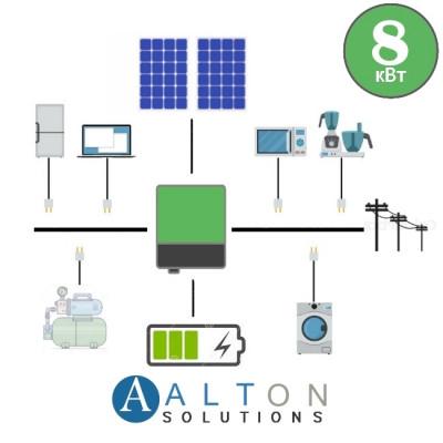Гибридная солнечная электростанция 8 кВт