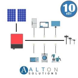 Сетевая солнечная электростанция для дома 10 кВт