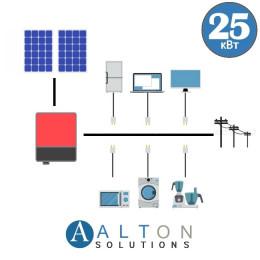Сетевая солнечная электростанция для дома 25 кВт
