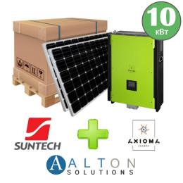 Комплект солнечных батарей 10 кВт Гибридная Suntech + Axioma