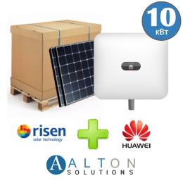 Комплект солнечных батарей 10 кВт Сетевая Risen + Huawei