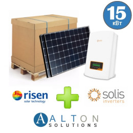 Комплект солнечных батарей 15 кВт Сетевая Risen+Solis