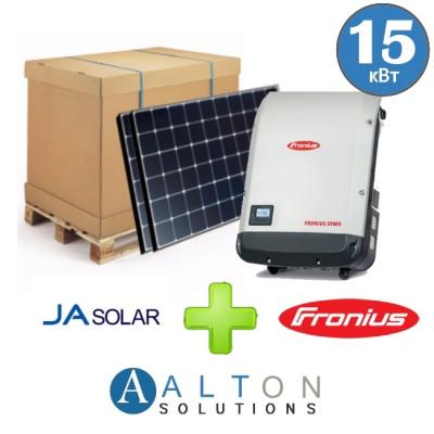 Комплект солнечных батарей 15 кВт Сетевая JA Solar + Fronius