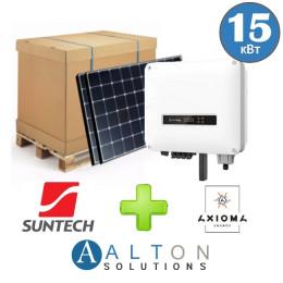 Комплект солнечных батарей 15 кВт Сетевая Suntech + Axioma