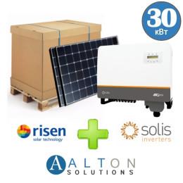 Комплект солнечных батарей 30 кВт Сетевая Risen+Solis
