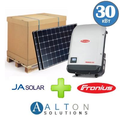 Комплект солнечных батарей 30 кВт Сетевая JA Solar + Fronius