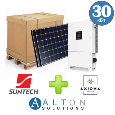 Комплект солнечных батарей 30 кВт Сетевая Suntech + Axioma