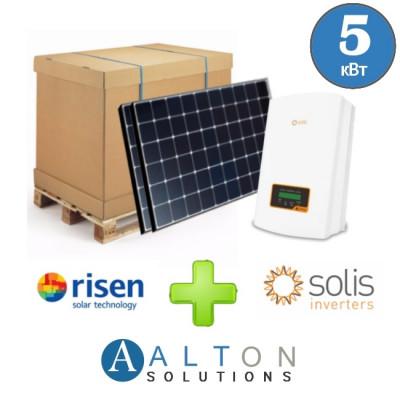 Комплект солнечных батарей 5 кВт Risen+Solis