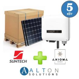 Комплект солнечных батарей 5 кВт Сетевая Suntech + Axioma