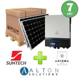 Комплект солнечных батарей 7 кВт Гибридная Suntech + Axioma