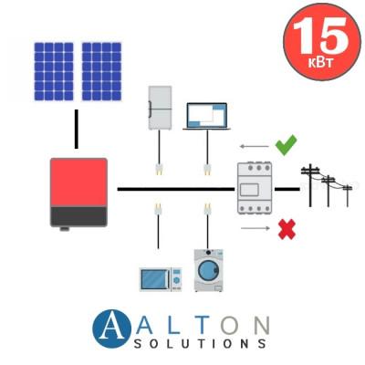 Солнечная электростанция для бизнеса 15 кВт
