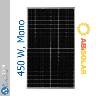 Монокристаллическая солнечная батарея ABi-Solar 450 Вт AB450-72MHC