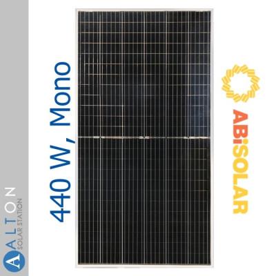 Монокристаллическая солнечная батарея ABi-Solar 440 Вт AB440-72MHC