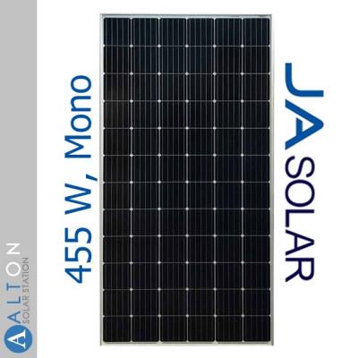 Монокристаллическая солнечная батарея JA Solar 455 Вт Mono JAM72S20-455/MB