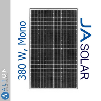 Монокристаллические солнечные батареи JA Solar JAM60S20-380/MR 380 Wp, Mono (Black Frame)